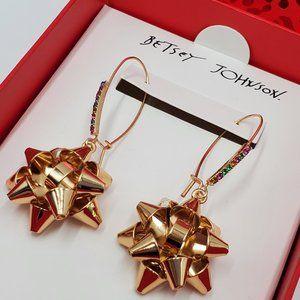 Betsey Johnson Gold Bow Earrings